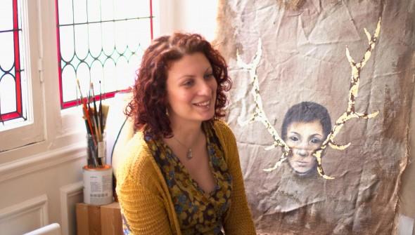 L'artiste Erica Quida photographiée par Jules Viera pour Pigment Magazine
